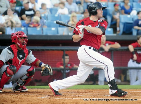 Nashville Sounds' Hunter Morris.