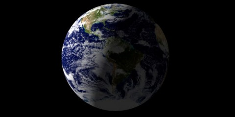 North America and part of the Atlantic Ocean are expected to be illuminated when NASA's Cassini spacecraft takes a snapshot of Earth on July 19th, 2013. This view is a close-up simulation. (Image credit: NASA/JPL-Caltech)