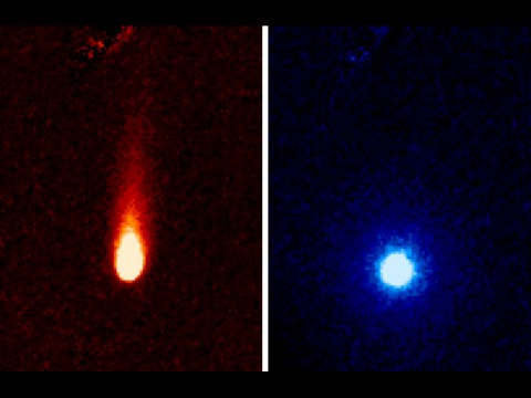 These images from NASA's Spitzer Space Telescope of C/2012 S1 (Comet ISON) were taken on June 13th, when ISON was 310 million miles (about 500 million kilometers) from the sun. (Image credit: NASA/JPL-Caltech/JHUAPL/UCF)