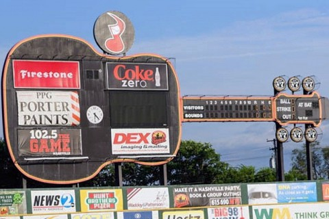 Nashville Sounds Greer Stadium. (Michael Rios - Clarksville Sports Network)