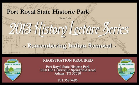 Port Royal State Park - 2013 History Lecture Series