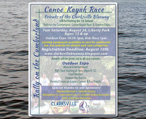 Canoe/Kayak Race and Outdoor Expo on August 24th at Liberty Park.