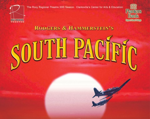 "Roxy Regional Theatre presents ""South Pacific"" July 12th - August 17th."