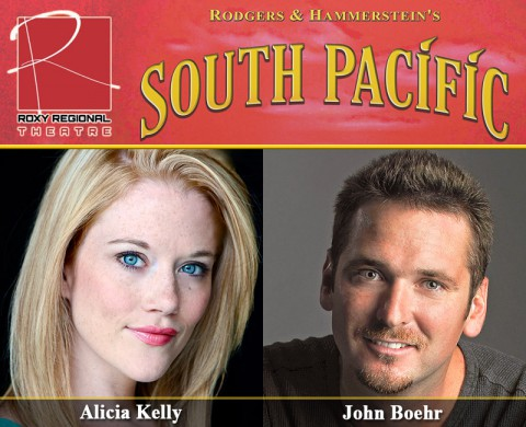 "Roxy Regional Theatre's ""South Pacific"" staring Alicia Kelly and John Boehr."