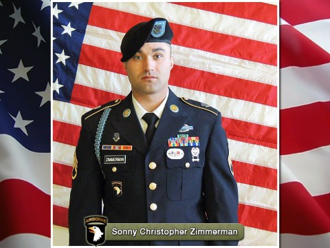 Staff Sergeant Sonny Christopher Zimmerman, Company A, 1st Battalion, 506th Infantry Regiment, 4th Brigade Combat Team, 101st Airborne Division (Air Assault)