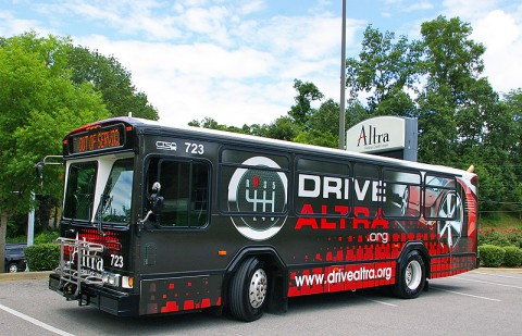 Snap a photo of the Altra wrapped Clarksville Transit Municipal bus for a chance to win a Visa Gift Card.