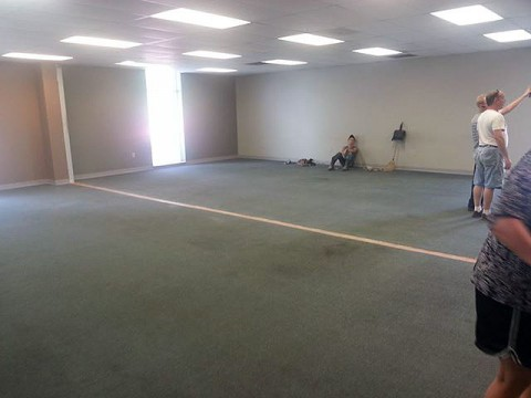 Room being remodeled at the new LEAP Plaza.