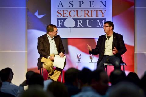 Deputy Secretary of Defense Ashton B. Carter speaks at the Aspen Security Forum in Aspen, Colorado July 18, 2013. (Sgt. Aaron Hostutler, USMC/Department of Defense)