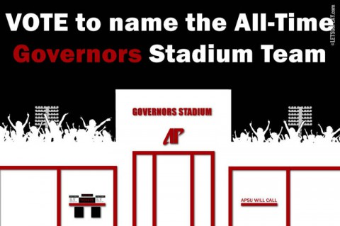 Vote on All-Time Governors Stadium team. (APSU Sports Information)