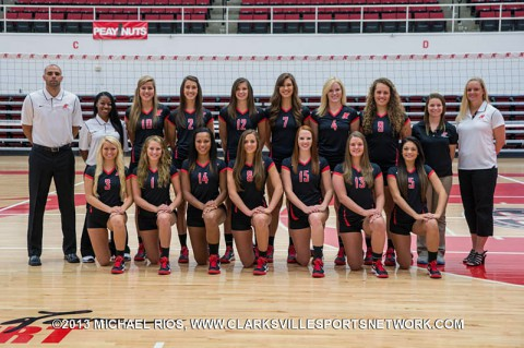 2013 Austin Peay Lady Govs Volleyball Team