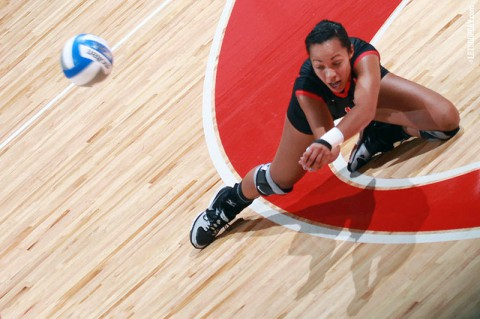 Junior outside hitter Jada Stotts was named to the USF all-tournament team after recording 50 kills in four matches. (Brittney Sparn - APSU Sports Information)
