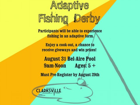 Adaptive Fishing Derby coming August 31st.