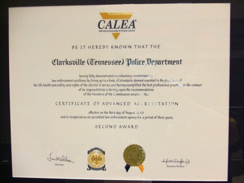 Clarksville Police Department receives reaccreditation