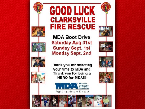 Help Clarksville Firefighters raise money for Muscular Dystrophy this Labor Day Weekend.