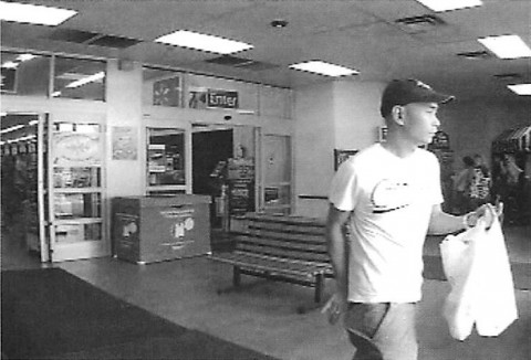 Photo of Credit Card skimming suspect. Call 931.648.0656 or Crime Stoppers at 931.645.TIPS (8477) with any information about the person in this photo.