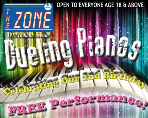 Dueling Pianos at The Zone August 16th, 2013.