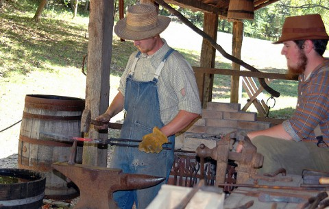 Blacksmithing at Land Between the Lakes's The Homeplace