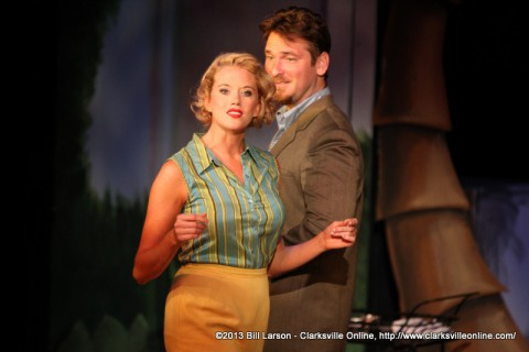 Alicia Kelly and John Boehr in the Roxy Regional Theatre's Production of South Pacific