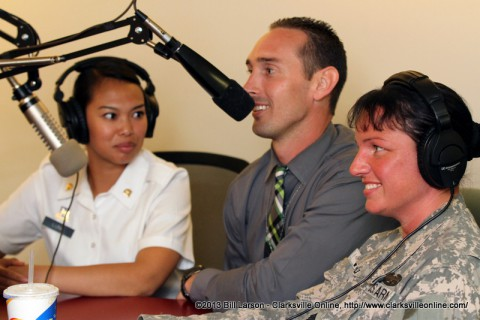 Spc. Ilka Luna with her husband Jeramie Luna, and  SSG Claire Wood (Battalion Career Counselor)