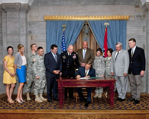 Pro-Veteran Bill Officially Signed Into Law by Tennessee Governor Bill Haslam.