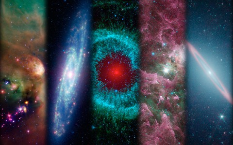 A montage of images taken by NASA's Spitzer Space Telescope over the years. (Image Credit: NASA/JPL-Caltech)