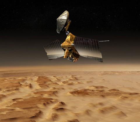 Artist concept of Mars Reconnaissance Orbiter. (Image credit: NASA/JPL)