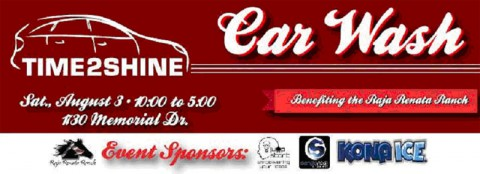 Time2Shine Car Wash Fundraiser for Raja Renta Ranch