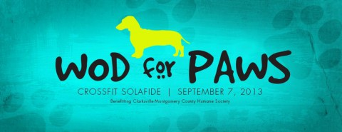 Crossfit SolaFide for WOD for Paws benefiting the Humane Society of Clarksville-Montgomery County