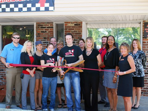 Wicked Good Sandwiches Ribbon Cutting Ceremony.