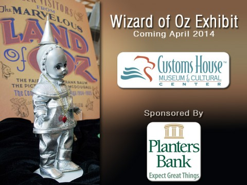 Wizard of Oz Exhibit coming to the Clarksville Customs House Museum April 2014