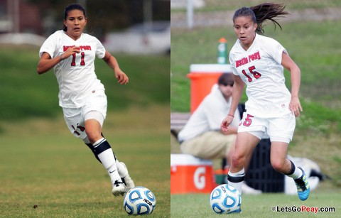 Tatiana and Natalia Ariza. Austin Peay Lady Govs Soccer. (APSU Sports Information)