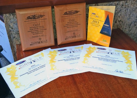 Five Awards won by the Rivers and Spires Festival at the 2013 International Festival Conference