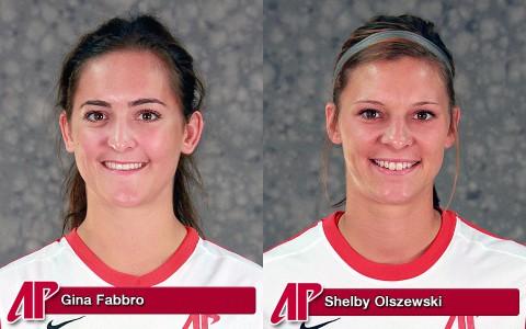 APSU Soccer's Gina Fabbro and Shelby Olszewski