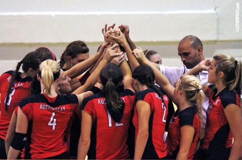 Austin Peay Women's Volleyball. (Brittney Sparn - APSU Sports Information)