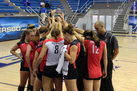 Austin Peay Women's Volleyball wrapped up its season-opening road trip with an OVC victory at Tennessee Tech, Saturday. (APSU Sports Information)