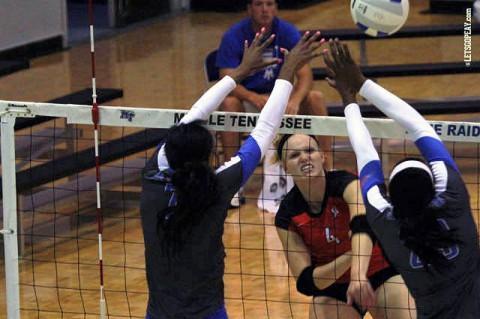 Austin Peay Volleyball's Sammie Ebright. (APSU Sports Information)