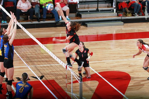 Senior Lauren Henderson and the Lady Govs volleyball team travel to Murfreesboro for the MT Invitational, Friday and Saturday. (Brittney Sparn - APSU Sports Information)