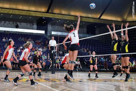 Austin Peay Women's Volleyball defeats North Dakota at MT Invitational. (Brittney Sparn/APSU Sports Information)