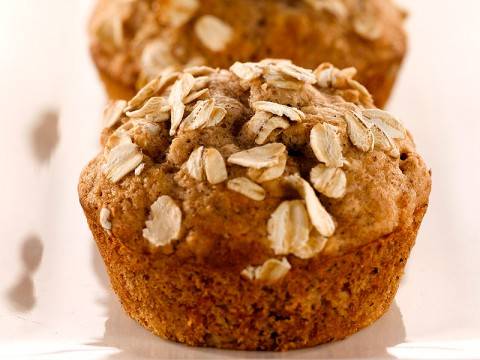 Banana Nut Oatmeal Muffins