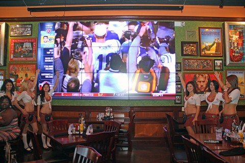"Tilted Kilts new 170"" LED Video Wall."