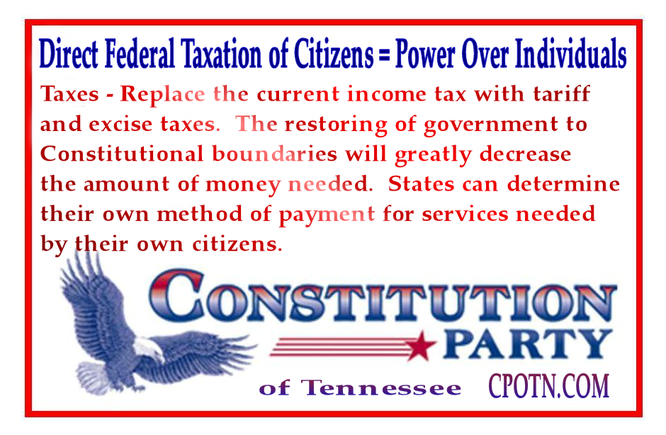 Federal Direct Citizen Taxes And Power Grab Clarksville