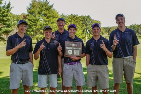 Clarksville High School Men's Golf Team.