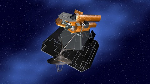 Artist's concept of NASA's Deep Impact spacecraft. (Image Credit: NASA/JPL-Caltech)