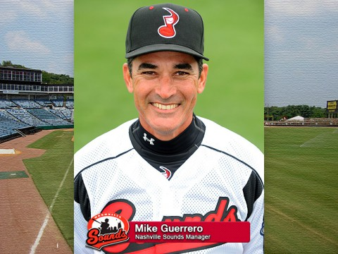Nashville Sounds Manager Mike Guerrero
