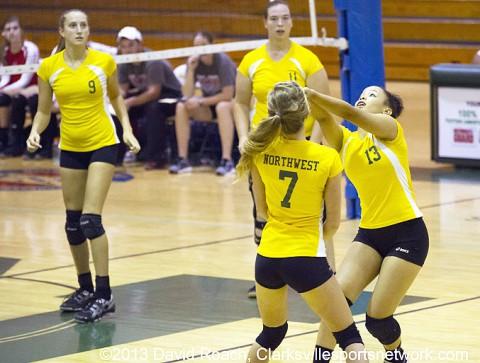Northwest High School Volleyball vs Henry County. (David Roach - Clarksville Sports Network)