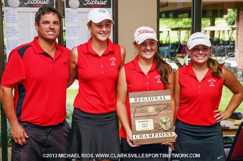 Rossview High School Girl's Golf Team wins 5-AAA Regional Golf Tournament.