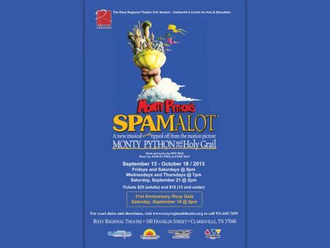 """Monty Python's """"Spamalot"""" at Clarksville's Roxy Regional Theatre"""