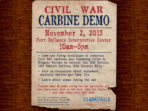 Civil War Carbine Demostration