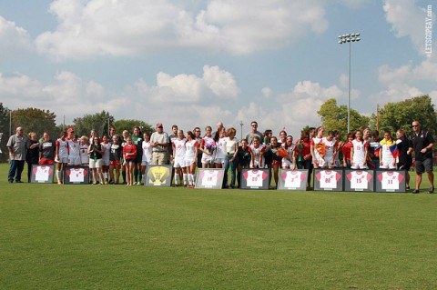 Sunday was Senior Day at Morgan Brothers Field, honoring nine Lady Gov seniors. (Brittney Sparn/APSU Sports Information)