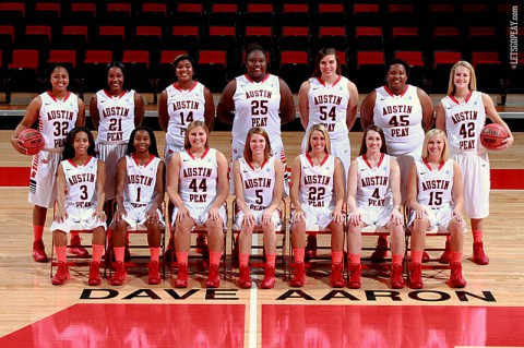 Austin Peay Women's Basketball 2013-14 Roster. (APSU Sports Information)